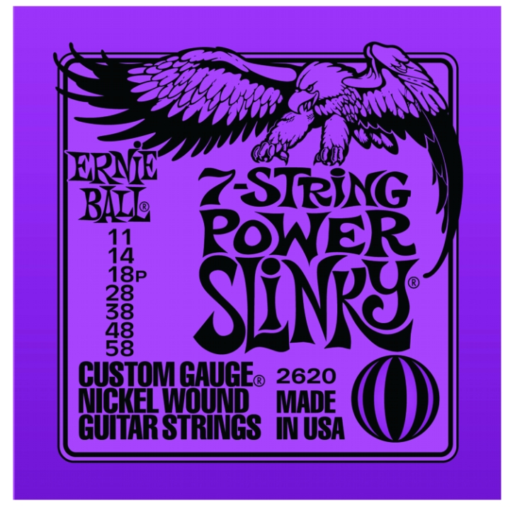 Ernie Ball Nickel Wound 7 String Electric Guitar Strings ...