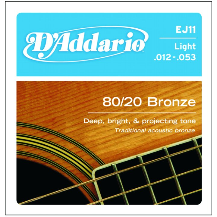 D'Addario 80/20 Bronze Acoustic Strings, Light