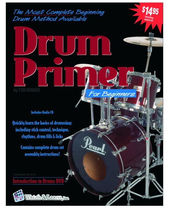 Watch & Learn Drum Primer Instruction Book with CD