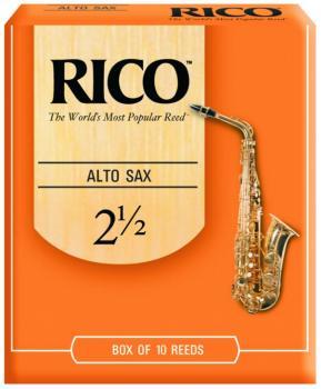 Rico Alto Sax Reeds, 10 Per Box #2 1/2 (RI-RJA1025)