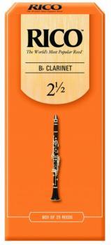 Rico Bb Clarinet Reeds, 25 per Box, #2 1/2 (RI-RCA2525)