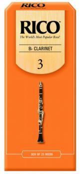Rico Bb Clarinet Reeds, 25 per Box, #3 (RI-RCA2530)