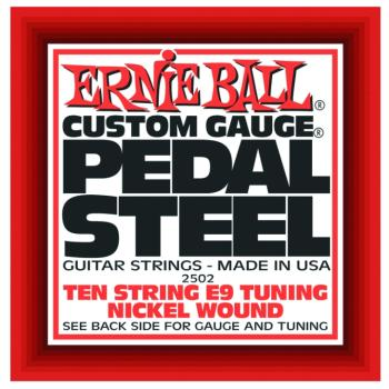 Ernie Ball 10-String E9 Pedal Steel Guitar Strings (EB-2502)