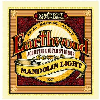 Ernie Ball Earthwood 80/20 Bronze Loop End Mandolin Strings, Light (EB-2067)