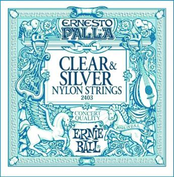 Ernie Ball Ernesto Palla Nylon Silver & Clear Classical Guitar Strings (EB-2403)