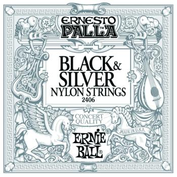 Ernie Ball Ernesto Palla Nylon Black & Silver Classical Guitar Strings (EB-2406)