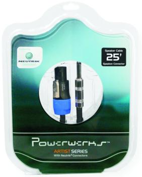 "Powerwerks Artist Series 1/4"" Speaker Cable w/ Neutrik Connectors, 25' (OW-PW25SQ)"