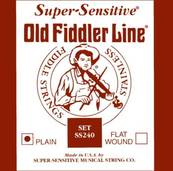 Super Sensitive Old Fiddler Plain Wound Fiddle String Set (SU-0012407)