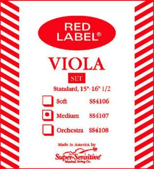Super Sensitive Medium Tone Viola String Set, 4/4 (SU-0014107)
