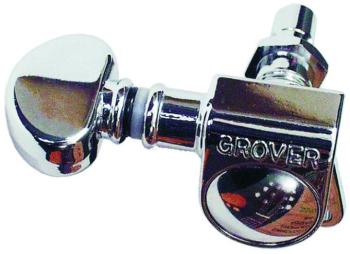 "Grover ""Mini"",3 to a Side, Machine Heads, Chrome (GR-406C)"