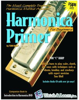 Watch & Learn Harmonica Primer Instruction Book with Audio CD (WL-WLVHB)
