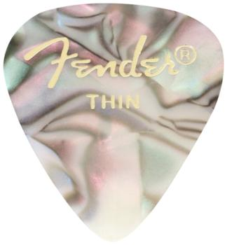 Fender 351 Shape Classic/Premium Celluloid Pick Pack, Abalone (12 ct.) (FE-MTR-0980351A)