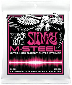 Ernie Ball M-Steel Super Slinky Electric Guitar Strings, 9 - 42 (EB-2923)