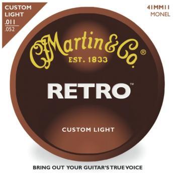 Martin Retro Monel Acoustic Guitar Strings, Custom Light (MA-MM11)