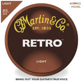 Martin Retro Monel Acoustic Guitar Strings, Light (MA-MM12)