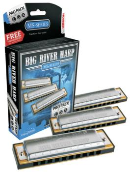 Hohner Big River Pro Pack, Keys of C, G, & A (HH-3P590BX)