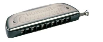 Hohner Chrometta 10 Harmonica, Key of C (HH-253C)