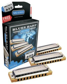 Hohner Blues Harp Pro Pack, Keys of C, G, & A (HH-3P532BX)