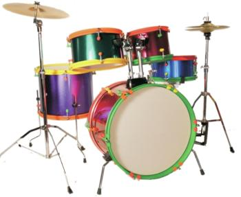 Excel 5 Piece Jr.Drumset with 3 Piece Cymbal Pack, Multi-Color (EX-EC165JB)