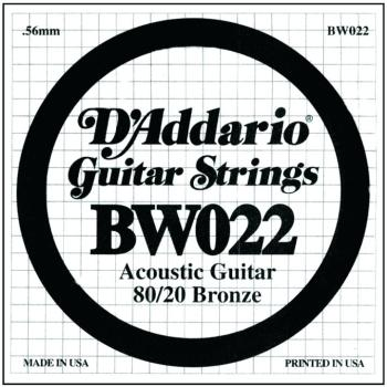 D'Addario 80/20 Bronze Single Strings, .022 (5) (DD-BW022)