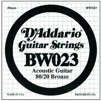 D'Addario 80/20 Bronze Single Strings, .023 (5) (DD-BW023)