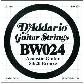 D'Addario 80/20 Bronze Single Strings, .024 (5) (DD-BW024)
