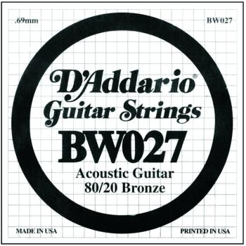 D'Addario 80/20 Bronze Single Strings, .027 (5) (DD-BW027)