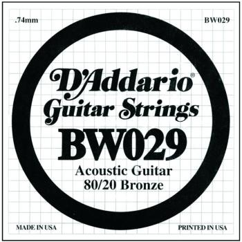 D'Addario 80/20 Bronze Single Strings, .029 (5) (DD-BW029)