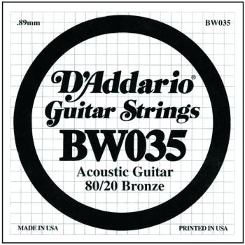 D'Addario 80/20 Bronze Single Strings, .035 (5) (DD-BW035)