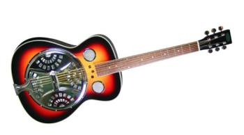 Flinthill Roundneck Resonator Guitar, Sunburst (FL-FHD100)