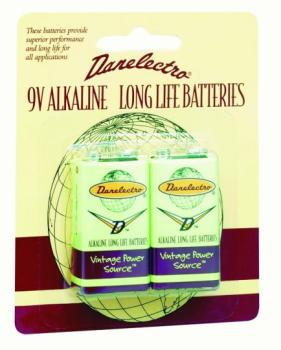 Danelectro 9V Batteries, 2 Pack (DN-2D9V)