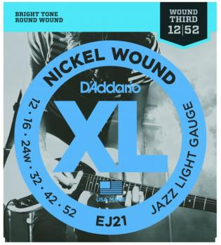 D'Addario XL Nickel Guitar Strings, Jazz Light (DD-EJ21)