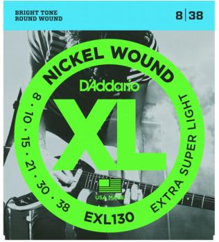 D'Addario XL Nickel Guitar Strings, Extra Super Lt (DD-EXL130)