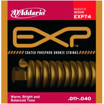 D'Addario EXP Coated Phos. Bronze Mandolin, Medium (DD-EXP74)