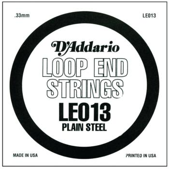 D'Addario Plain Steel Loop End Strings, .013 (10) (DD-LE013)