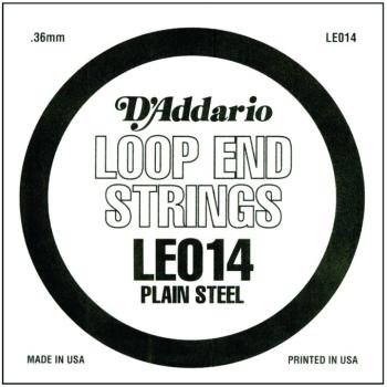 D'Addario Plain Steel Loop End Strings, .014 (10) (DD-LE014)