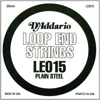 D'Addario Plain Steel Loop End Strings, .015 (10) (DD-LE015)