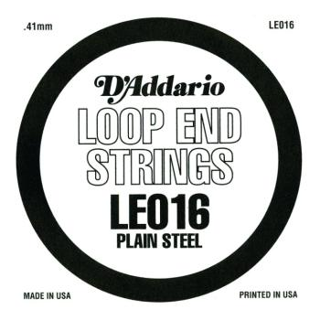 D'Addario Plain Steel Loop End Strings, .016 (10) (DD-LE016)