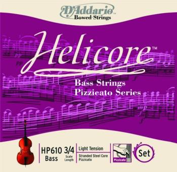 Helicore Pizzicato Bass Strings, 3/4 - 4/4 Medium (HC-HP610)