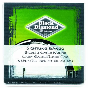 Black Diamond Loop End 5 String Banjo String Set (BD-N734HL)