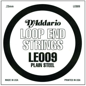D'Addario Plain Steel Loop End Strings, .008 (10) (DD-LE009)