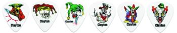 Clayton Crazed Clown Guitar Picks, 12 Pack (CL-MTR-CC12)
