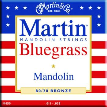 Martin 80/20 Bronze Bluegrass Mandolin Strings (MA-M450)