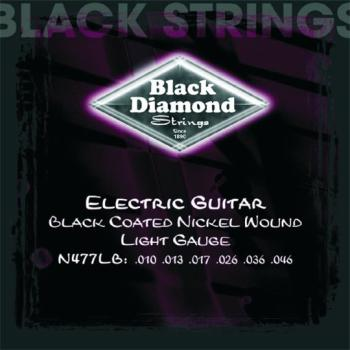 Black Diamond Coated, NW Electric Strings, Light (BD-N477LB)