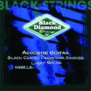Black Diamond Coated, PB Acoustic Strings, Light (BD-N600LB)