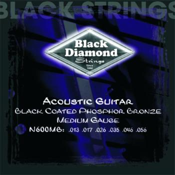 Black Diamond Coated, PB Acoustic Strings, Medium (BD-N600MB)