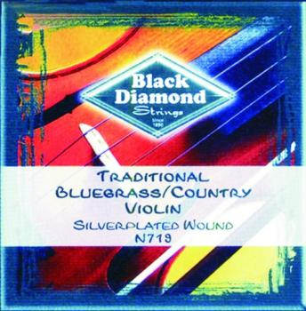 Black Diamond Silver Plated, Wound Fiddle Strings (BD-N719)