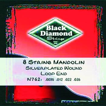 Black Diamond Loop End, Wound Mandolin Strings (BD-N762)