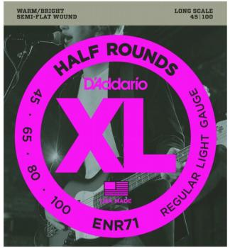 D'Addario Half Round Bass Strings, Regular Light (DD-ENR71)