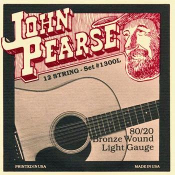 John Pearse 80/20 Bronze Acoustic 12 String Set Lt (JP-JP1300L)